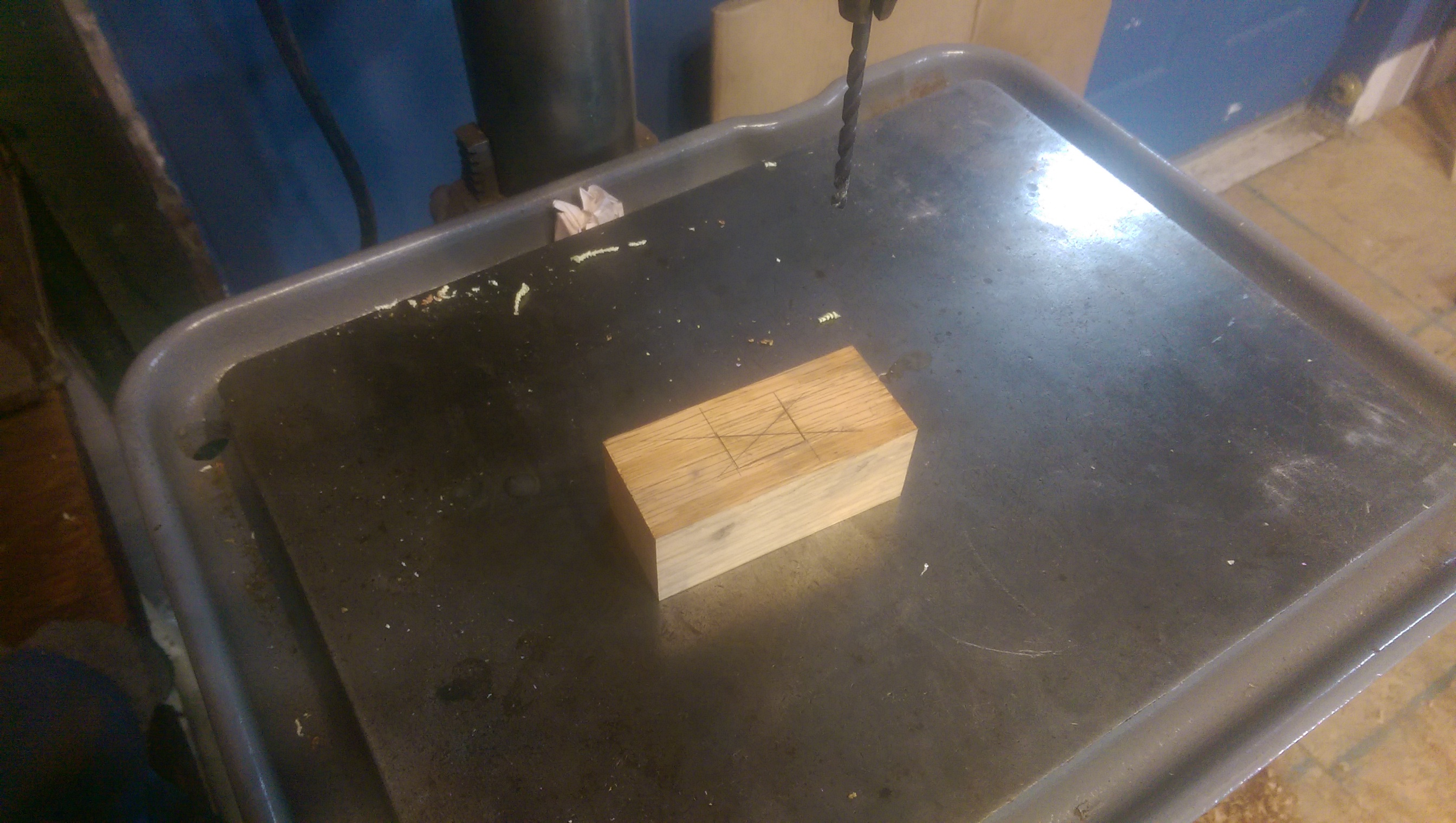 drilling the mortise
