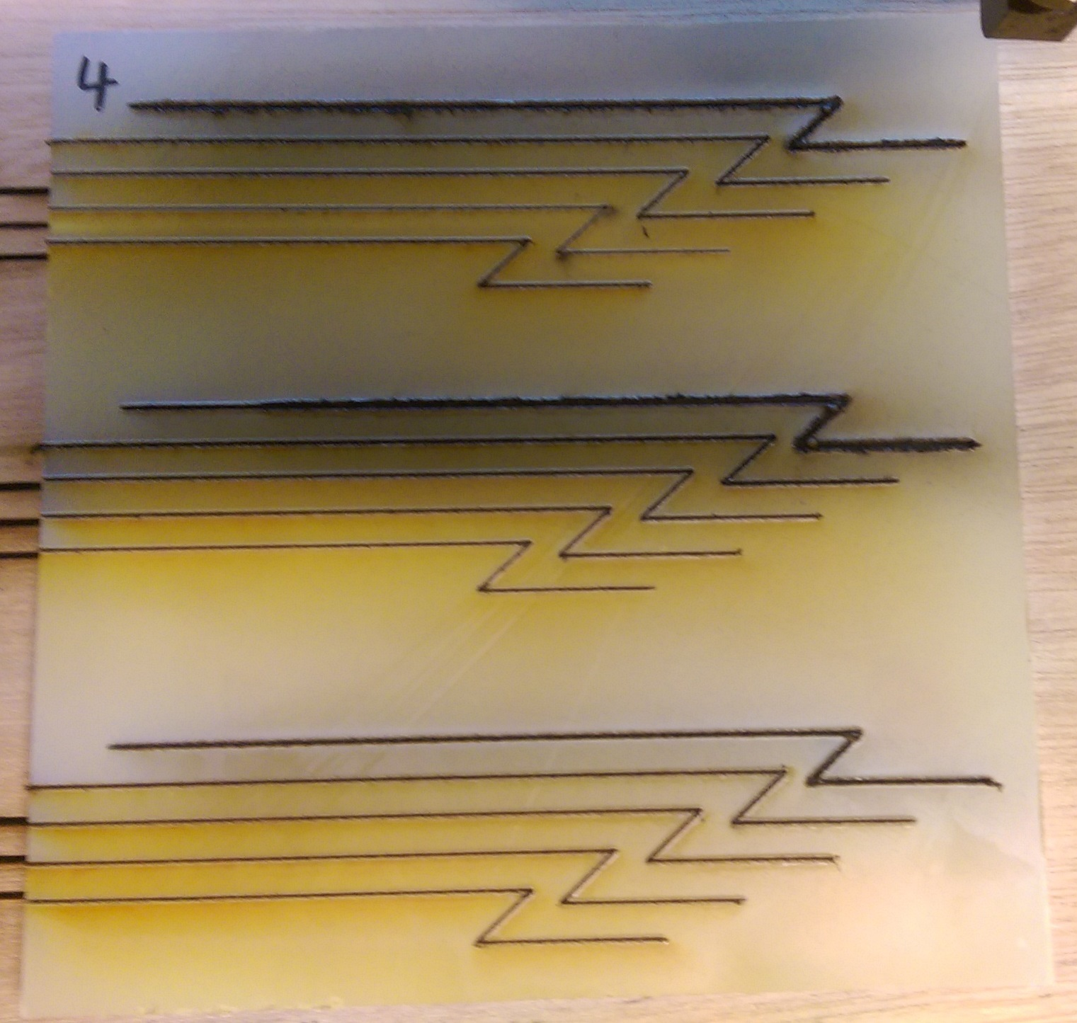laser cutting of Clear Impact Resistant Polycarbonate