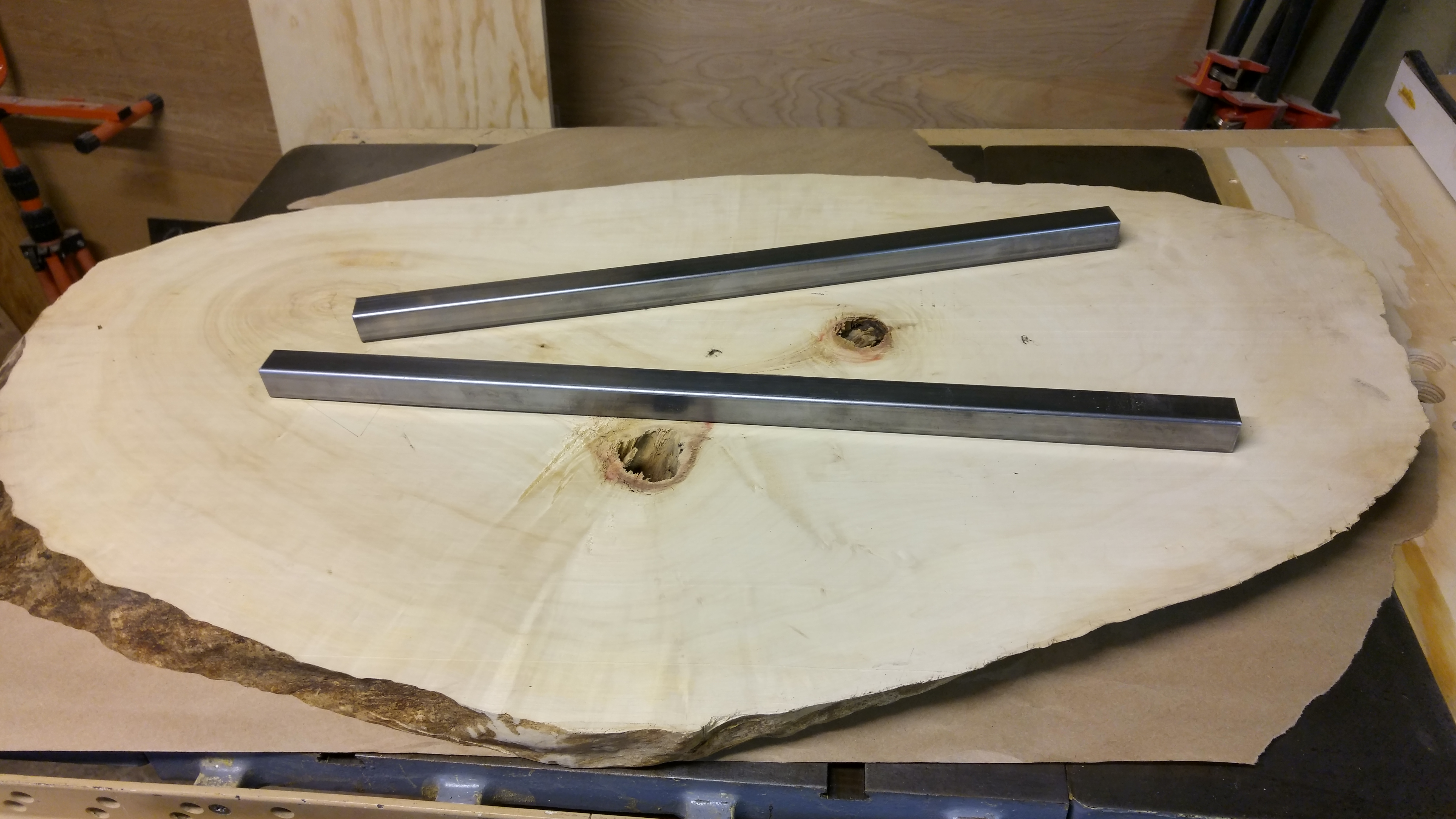 Final assembly of live edge coffee table for Coffee tables you can sit on