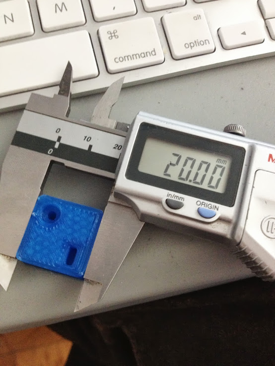 Measuring the test block