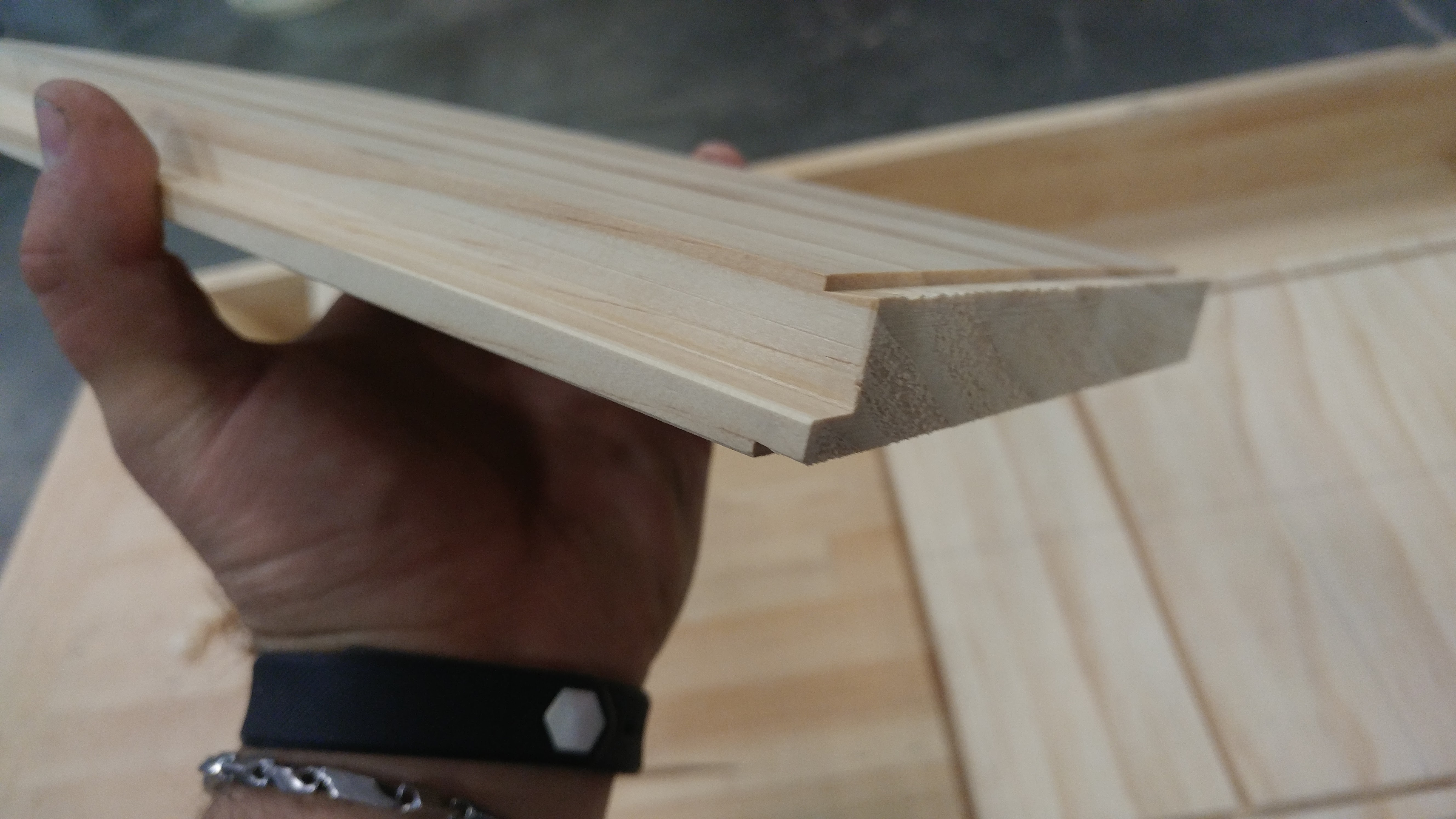 detail of the joinery on the box ends