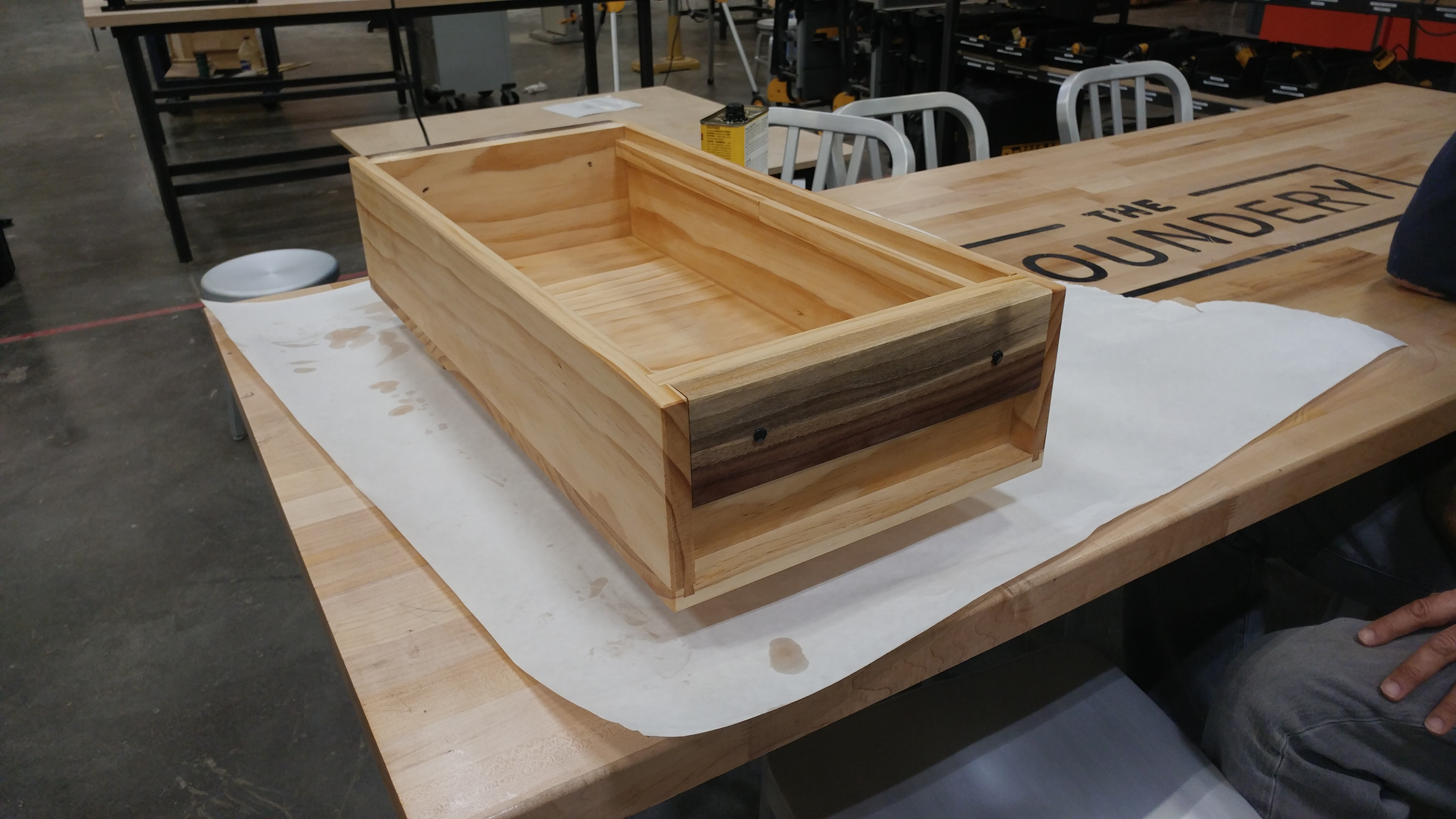 applying the Tung oil finish