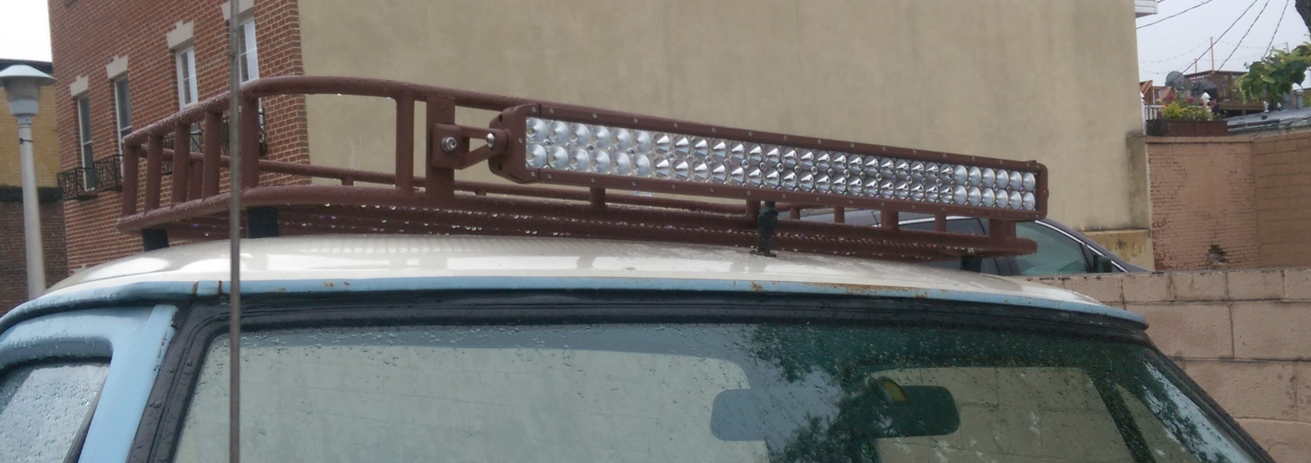 the finished roof rack