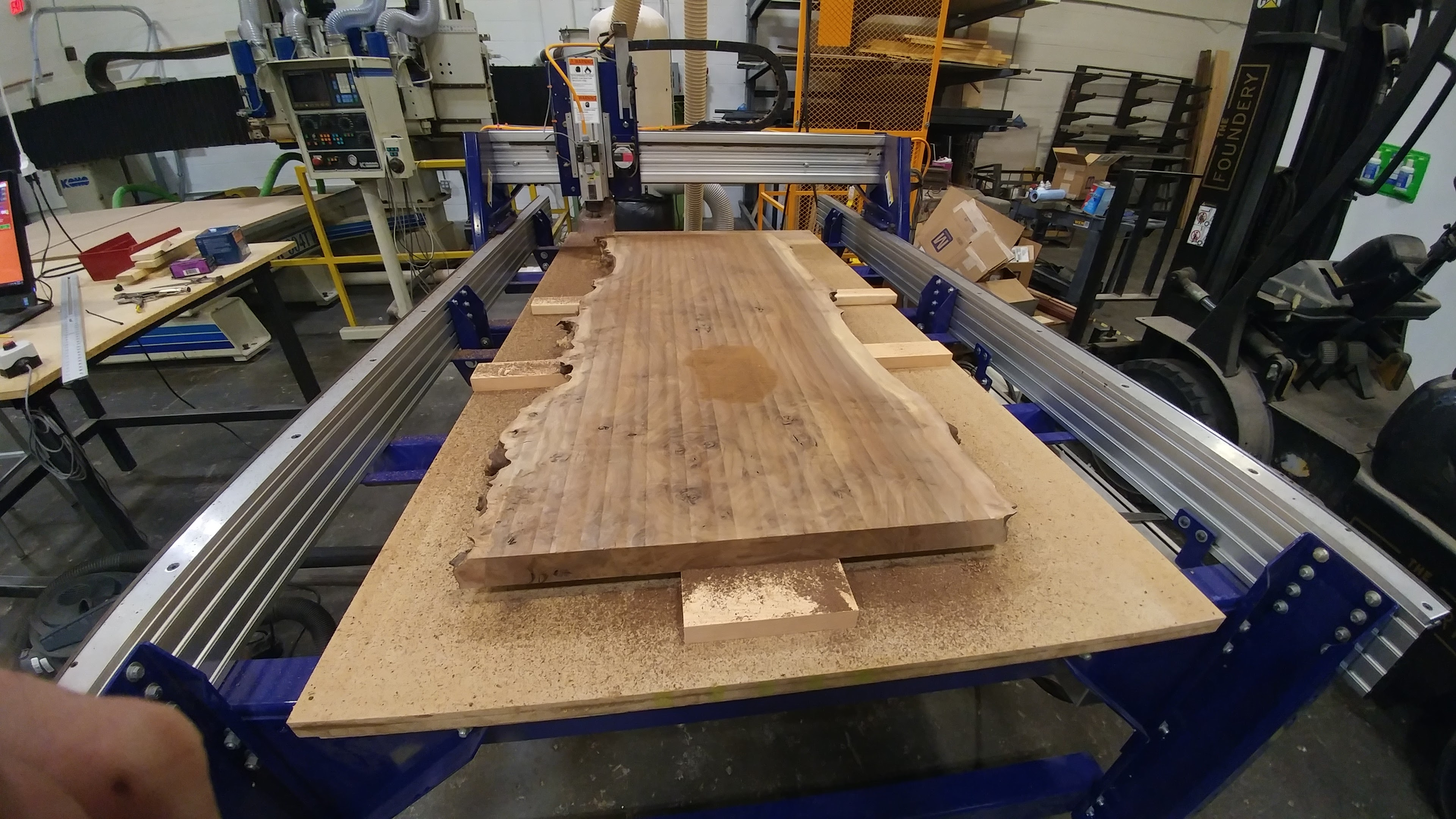 Flatten the top of the slab on the shopbot